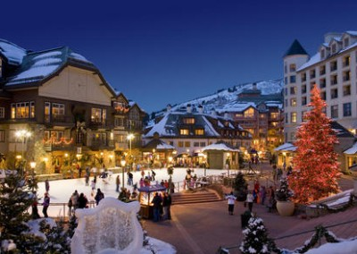 Plaza at Beaver Creek in the winter.